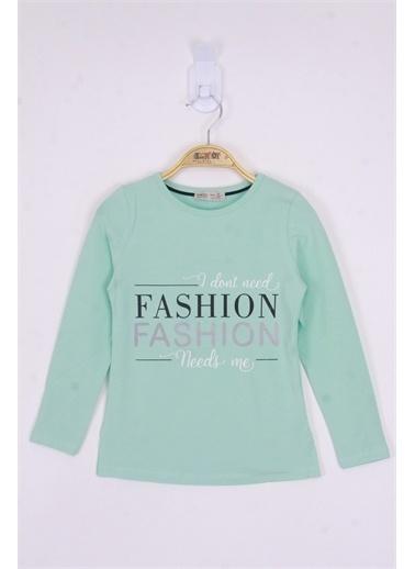 Toontoy Kids Toontoy Kız Çocuk Fashion Baskılı Tişört Renkli